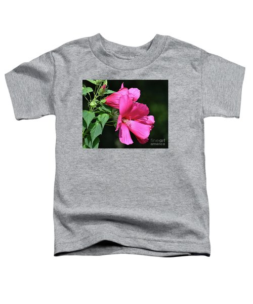 Giant Pink Hibiscus Toddler T-Shirt
