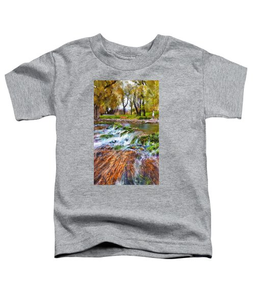 Toddler T-Shirt featuring the digital art Giant Springs 2 by Susan Kinney