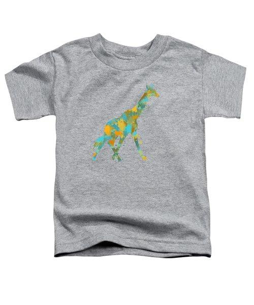 Giraffe Watercolor Art Toddler T-Shirt by Christina Rollo