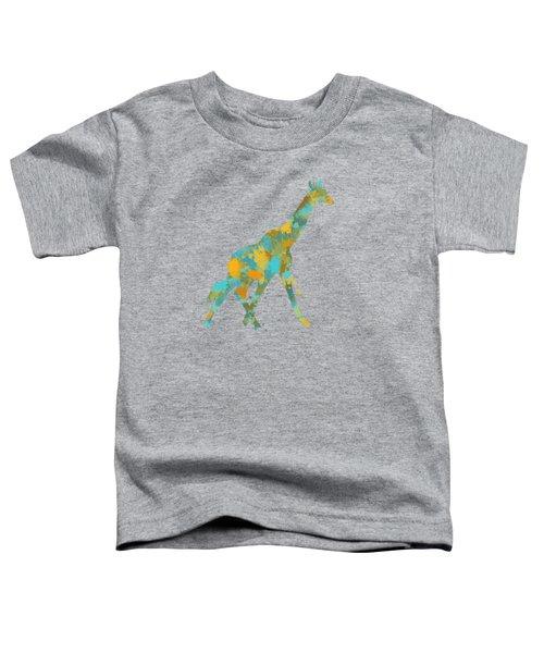 Giraffe Watercolor Art Toddler T-Shirt