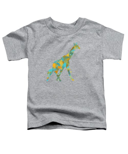 Giraffe Watercolor Art Toddler T-Shirt