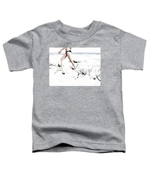 Girl Walking On Beach Toddler T-Shirt