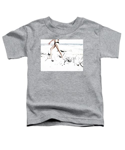 Girl Walking On Beach Toddler T-Shirt