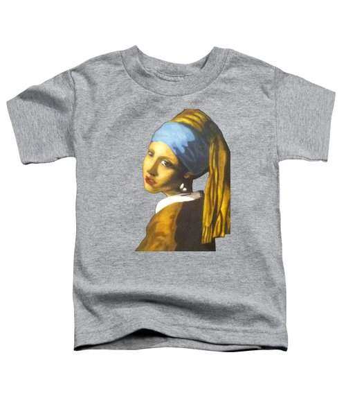 Toddler T-Shirt featuring the painting Girl With The Pearl Earring No Background by Jayvon Thomas