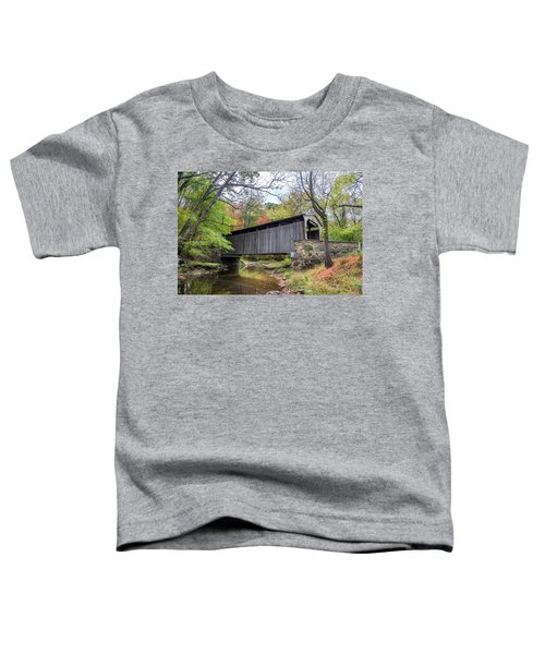 Glen Hope Covered Brige During Autumn Toddler T-Shirt
