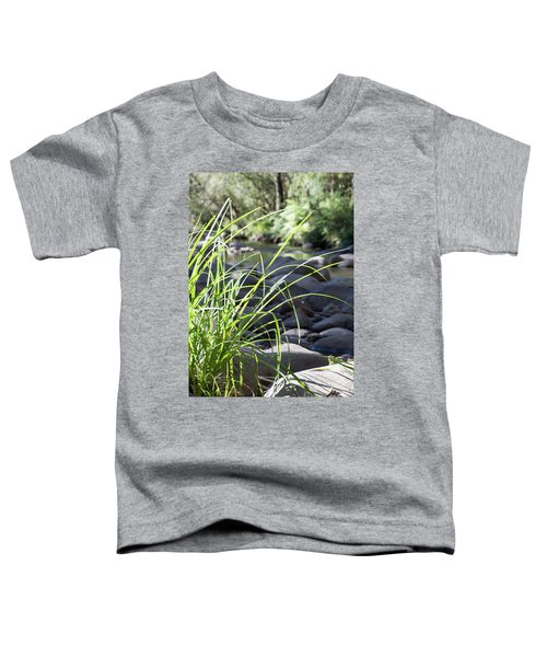 Toddler T-Shirt featuring the photograph Glistening In The Sunlight by Linda Lees