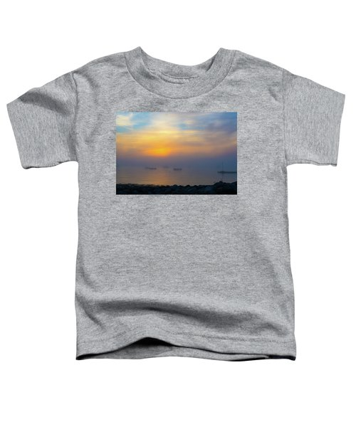 Gloucester Harbor Foggy Sunset Toddler T-Shirt