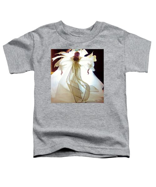 Gold And White Angel Toddler T-Shirt