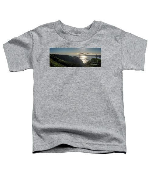 Golden Gate Bridge From The Road Up The Mountain Toddler T-Shirt