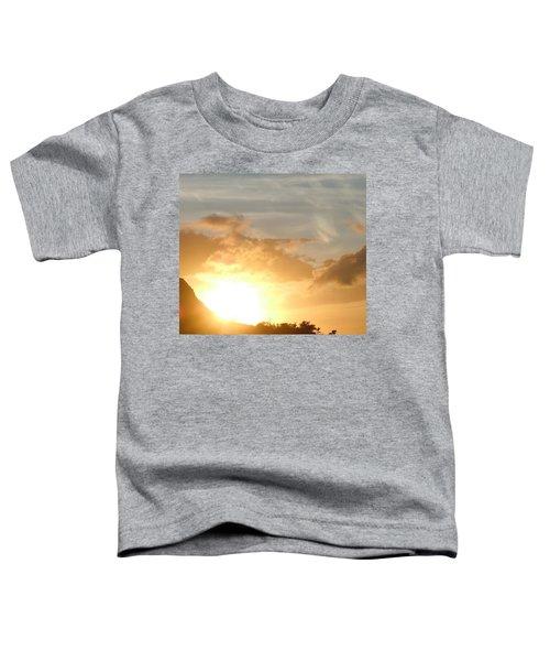 Golden Oahu Sunset Toddler T-Shirt