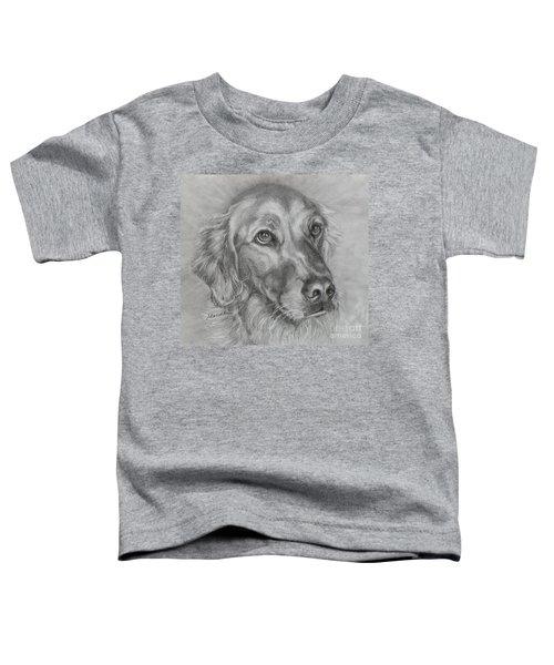 Golden Retriever Drawing Toddler T-Shirt