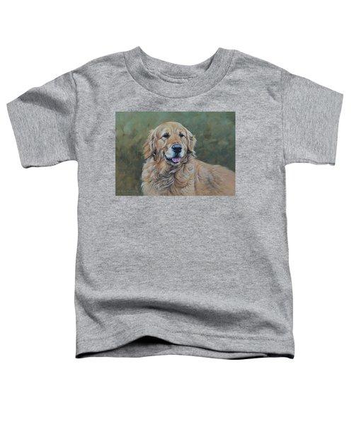 Golden Retriever Portrait Toddler T-Shirt