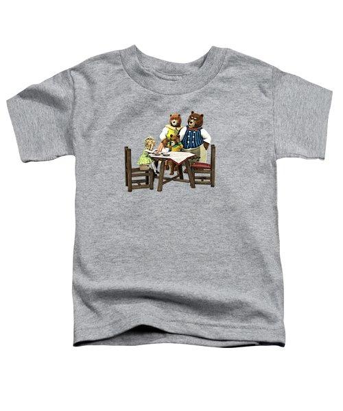 Goldilocks N The 3 Bears Toddler T-Shirt