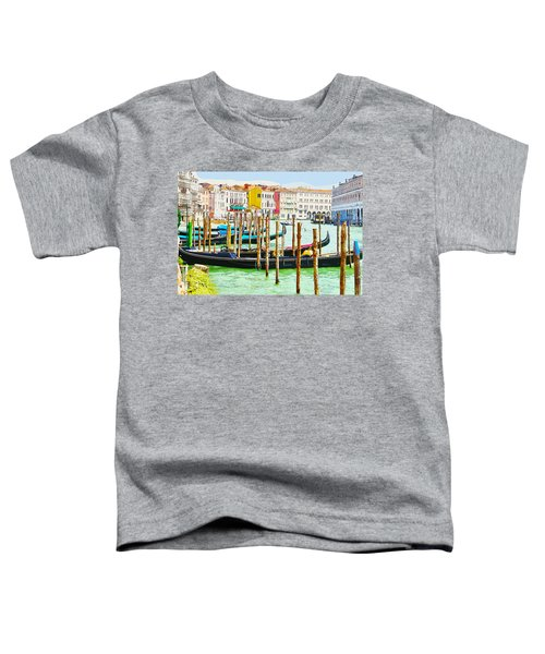 Gondolas On The Grand Canal Venice Italy Toddler T-Shirt