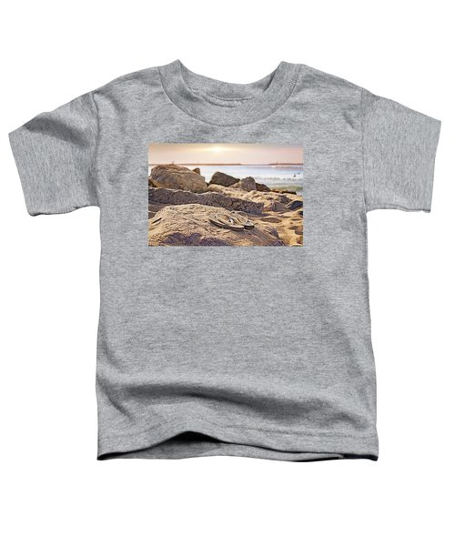 Toddler T-Shirt featuring the photograph Gone Surfin' by Alison Frank