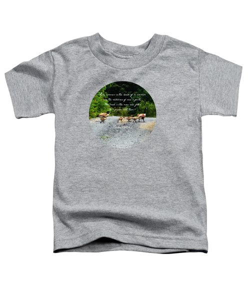 Goose Family - Verse Toddler T-Shirt by Anita Faye