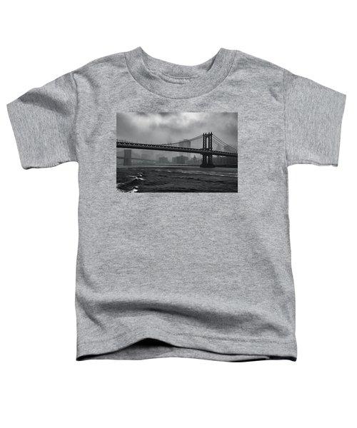 Manhattan Bridge In A Storm Toddler T-Shirt