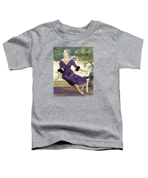 Grace Kelly Draw Toddler T-Shirt by Quim Abella