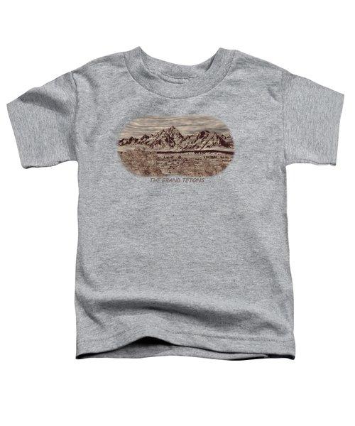 Grand Tetons Woodburning 2 Toddler T-Shirt by John M Bailey