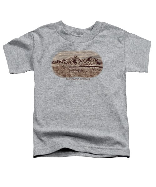 Grand Tetons Woodburning 2 Toddler T-Shirt