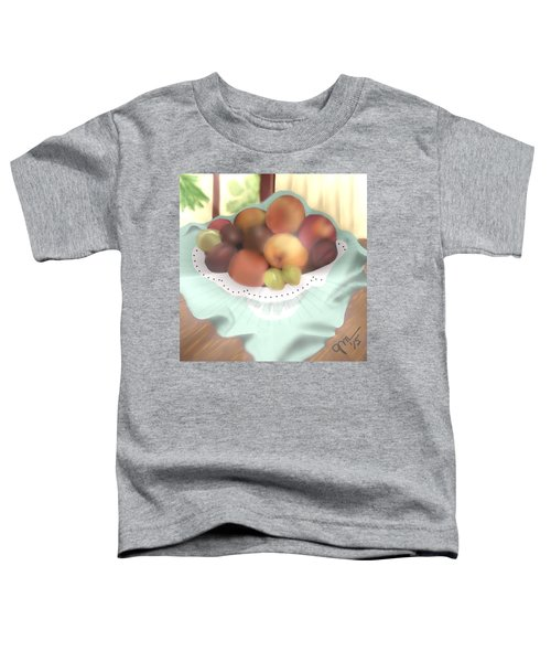 Toddler T-Shirt featuring the digital art Grandma's Table by Gerry Morgan