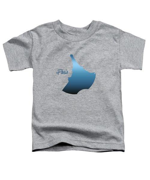 Graphic Style Paris Eiffel Tower Blue Toddler T-Shirt