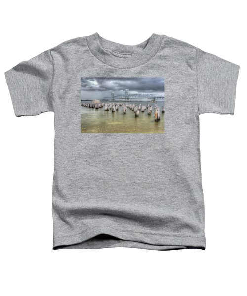 Gray Day Over Marine Parkway Bridge Toddler T-Shirt