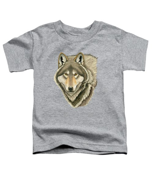 Gray Wolf Portrait Toddler T-Shirt