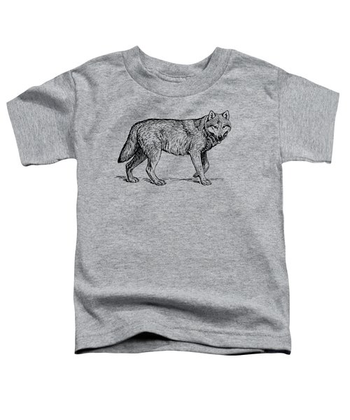 Gray Wolf Timber Wolf Western Wolf Woods Texture Toddler T-Shirt