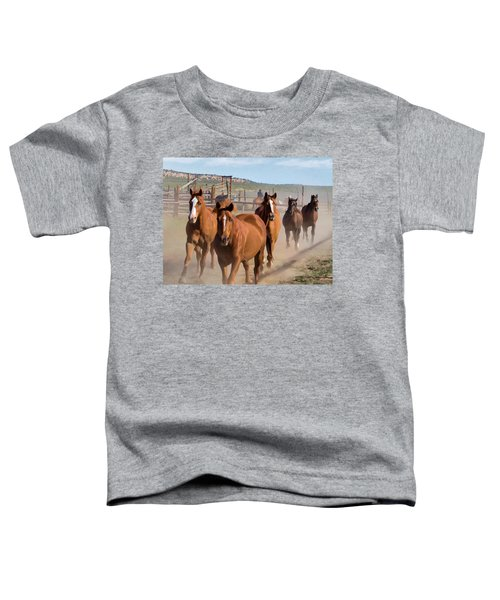 Great American Horse Drive - Coming Into The Corrals Toddler T-Shirt