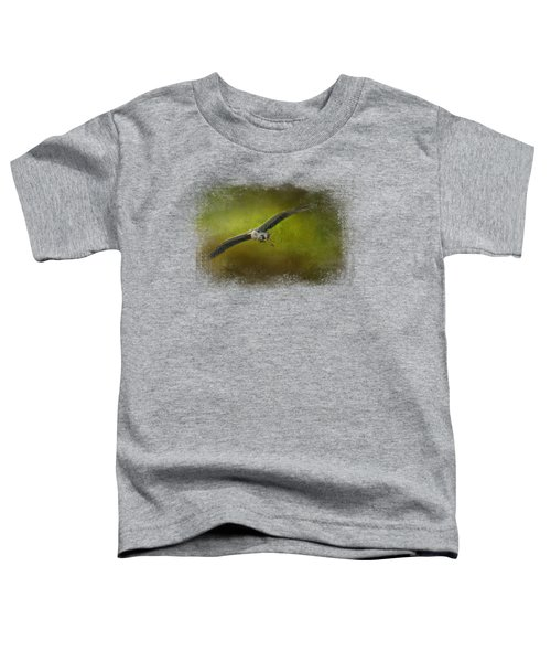 Great Blue Heron In The Grove Toddler T-Shirt by Jai Johnson