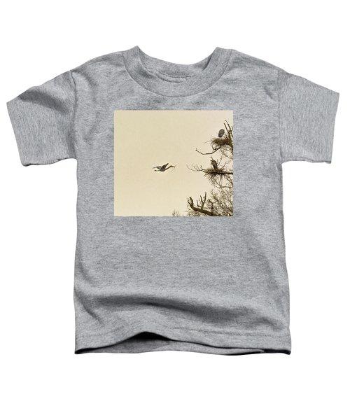 Great Blue Heron Nest Building Toddler T-Shirt
