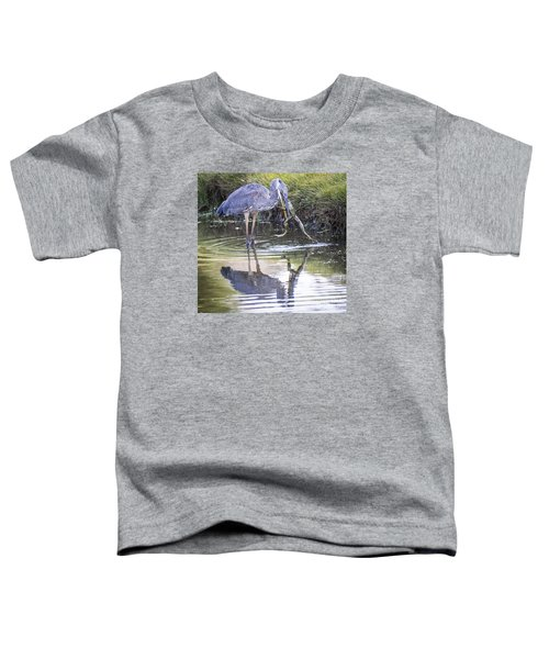 Great Blue Heron Vs Huge Frog Toddler T-Shirt