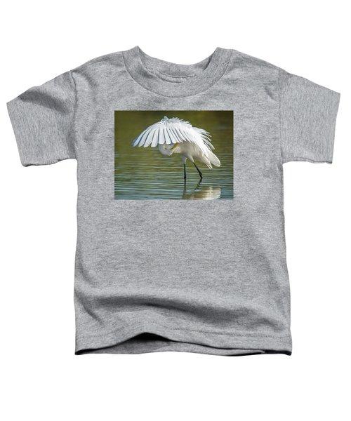 Great Egret Preening 8821-102317-2 Toddler T-Shirt