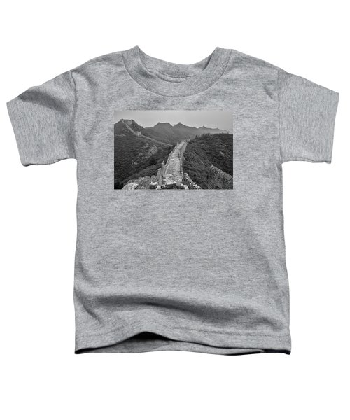 Toddler T-Shirt featuring the photograph Great Wall 6, Jinshanling, 2016 by Hitendra SINKAR