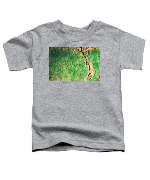 Green Flaking Brickwork Toddler T-Shirt