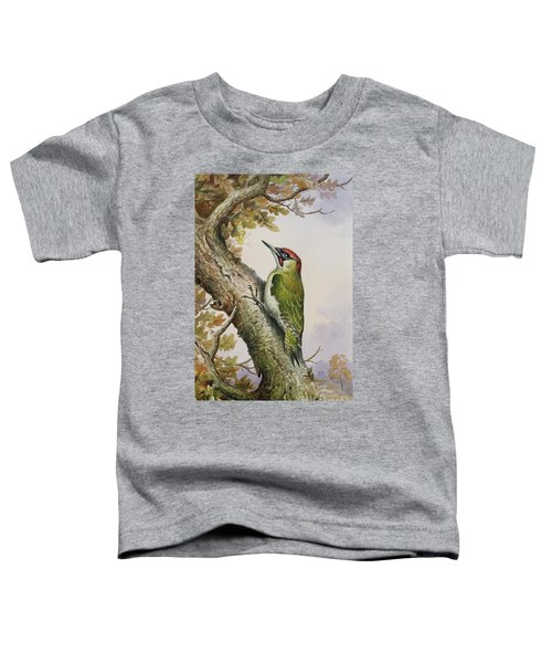 Green Woodpecker Toddler T-Shirt by Carl Donner
