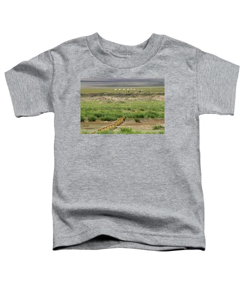 Toddler T-Shirt featuring the photograph Greenery In Desert, Gobi, 2016 by Hitendra SINKAR