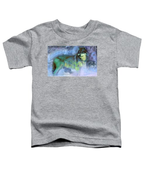 Grey Wolves In Snow Toddler T-Shirt