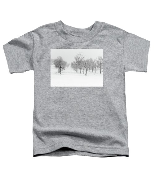 Grove Of Trees In A Snow Storm Toddler T-Shirt