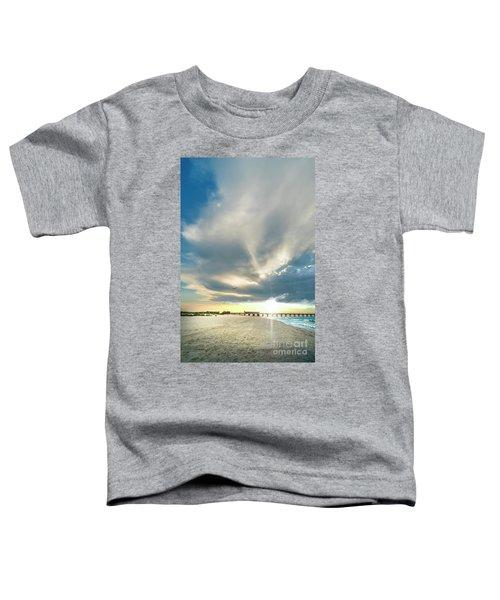 Gulf Shores Al Pier Seascape Sunrise 152a Toddler T-Shirt