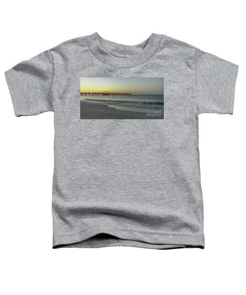 Gulf Shores Alabama Fishing Pier Digital Painting A82518 Toddler T-Shirt