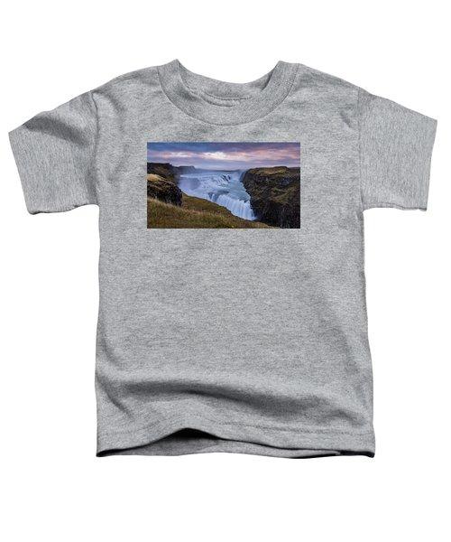 Gullfoss, Sunrise Toddler T-Shirt