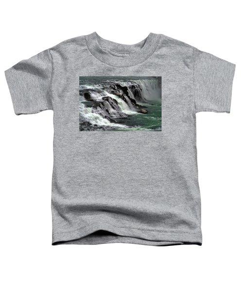 Gullfoss Waterfalls, Iceland Toddler T-Shirt by Dubi Roman