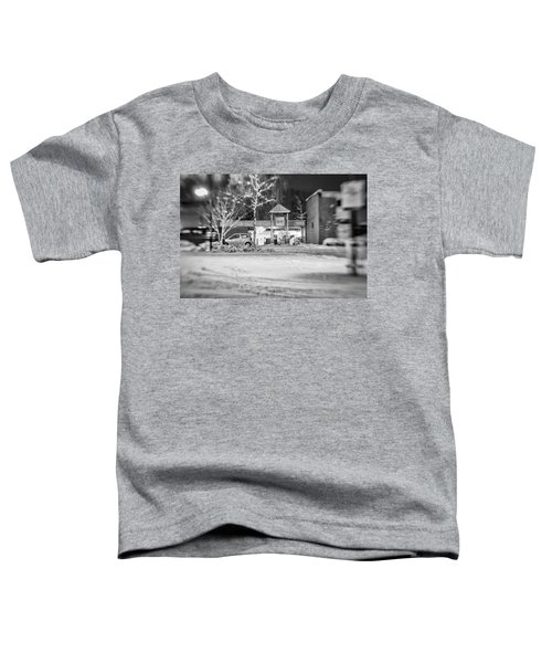 Hale Barns Square In The Snow Toddler T-Shirt