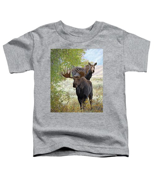 Handsome Bull With Cow Toddler T-Shirt