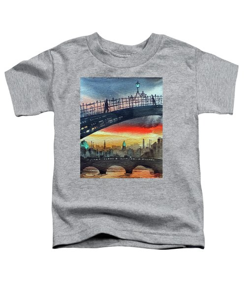 Hapenny Bridge Sunset, Dublin...27apr18 Toddler T-Shirt
