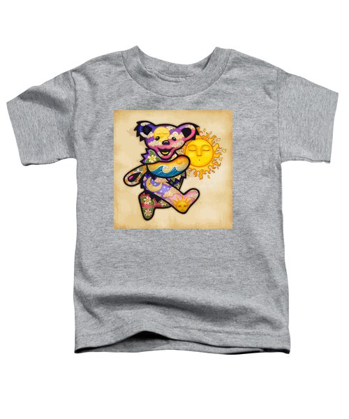 Happy Bear And Sun Toddler T-Shirt