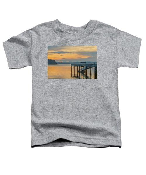 #harper Pier In The Morning Light Toddler T-Shirt