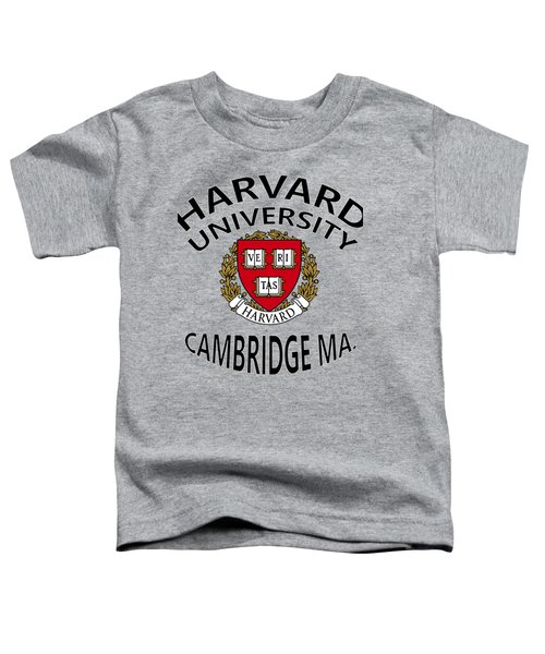 Harvard University Cambridge M A  Toddler T-Shirt by Movie Poster Prints